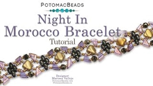 How to Bead Jewelry / Videos Sorted by Beads / Silky and Mini Silky Bead Videos / Night in Morocco Bracelet Tutorial
