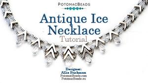 How to Bead Jewelry / Beading Tutorials & Jewel Making Videos / Bead Weaving Tutorials & Necklace Tutorial / Antique Ice Necklace Tutorial