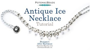 How to Bead / Videos Sorted by Beads / Potomax Metal Bead Videos / Antique Ice Necklace Tutorial