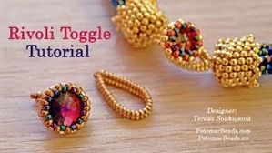 How to Bead Jewelry / Videos Sorted by Beads / Potomac Crystal Videos / Rivoli Toggle Beadweaving Tutorial
