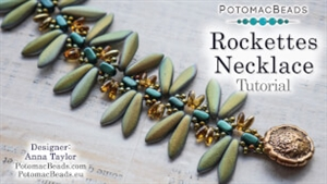 How to Bead Jewelry / Videos Sorted by Beads / CzechMates Bead Videos / Rockettes Necklace Beadweaving Tutorial