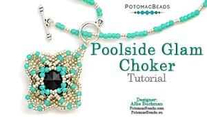 How to Bead Jewelry / Beading Tutorials & Jewel Making Videos / Bead Weaving Tutorials & Necklace Tutorial / Poolside Glam Choker Tutorial