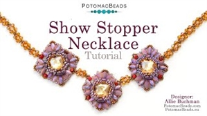 How to Bead / Videos Sorted by Beads / DiscDuo® Bead Videos / Show Stopper Necklace Tutorial