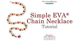 How to Bead / Videos Sorted by Beads / Potomax Metal Bead Videos / Simple EVA Chain Necklace Tutorial