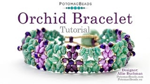 How to Bead Jewelry / Videos Sorted by Beads / SuperDuo & MiniDuo Videos / Orchid Bracelet Tutorial