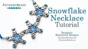 How to Bead Jewelry / Videos Sorted by Beads / RounDuo® & RounDuo® Mini Bead Videos / Snowflake Necklace