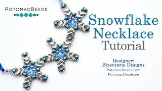 How to Bead Jewelry / Videos Sorted by Beads / Potomac Crystal Videos / Snowflake Necklace