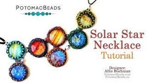 How to Bead / Videos Sorted by Beads / Cabochon Videos / Solar Star Necklace Tutorial