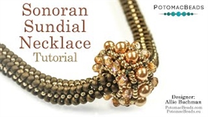 How to Bead / Videos Sorted by Beads / All Other Bead Videos / Sonoran Sundial Necklace Tutorial
