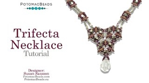 How to Bead Jewelry / Videos Sorted by Beads / Potomac Crystal Videos / Trifecta Necklace Tutorial