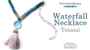 How to Bead / Videos Sorted by Beads / Cabochon Videos / Waterfall Necklace Tutorial