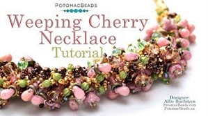 How to Bead Jewelry / Videos Sorted by Beads / Potomac Crystal Videos / Weeping Cherry Necklace Tutorial