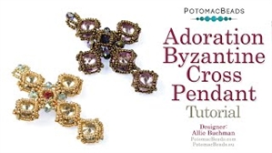 How to Bead / Videos Sorted by Beads / Potomac Crystal Videos / Adoration Byzantine Cross Pendant Tutorial