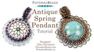 How to Bead Jewelry / Videos Sorted by Beads / Cabochon Videos / Antique Spring Pendant