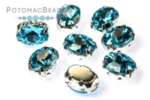 Potomac Exclusives / Potomac Crystals (All) / Potomac Crystal Ovals in Settings 6x8mm