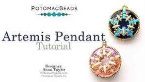 How to Bead Jewelry / Videos Sorted by Beads / MobyDuo Bead Videos / Artemis Pendant Tutorial