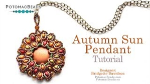 How to Bead / Videos Sorted by Beads / Cabochon Videos / Autumn Sun Pendant Tutorial