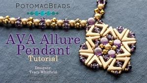 How to Bead Jewelry / Videos Sorted by Beads / RounDuo® & RounDuo® Mini Bead Videos / Ava Allure Pendant Tutorial