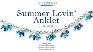 How to Bead / Videos Sorted by Beads / Potomac Crystal Videos / Summer Lovin Anklet Tutorial