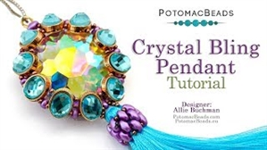 How to Bead Jewelry / Videos Sorted by Beads / Potomax Metal Bead Videos / Crystal Bling Pendant Tutorial