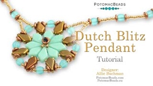 How to Bead / Videos Sorted by Beads / Diamond Shaped Bead Videos / Dutch Blitz Pendant Tutorial