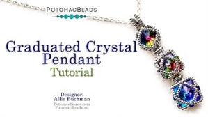 How to Bead / Videos Sorted by Beads / CzechMates Bead Videos / Graduated Crystal Pendant Tutorial