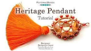 How to Bead Jewelry / Videos Sorted by Beads / Potomax Metal Bead Videos / Heritage Pendant Tutorial