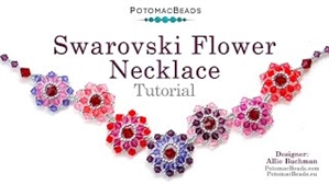 How to Bead Jewelry / Beading Tutorials & Jewel Making Videos / Bead Weaving Tutorials & Necklace Tutorial / Swarovski Flower Necklace Tutorial