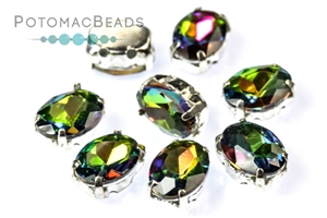 Jewelry Making Supplies & Beads / Beads and Crystals / Potomac Crystal Ovals in Settings 6x8mm