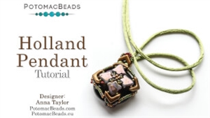 How to Bead / Videos Sorted by Beads / Cabochon Videos / Holland Pendant Tutorial