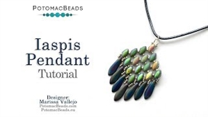 How to Bead / Videos Sorted by Beads / CzechMates Bead Videos / Iaspis Pendant Tutorial