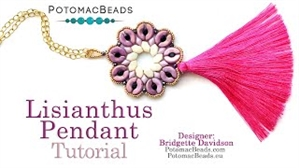 How to Bead / Videos Sorted by Beads / Diamond Shaped Bead Videos / Lisianthus Pendant Tutorial