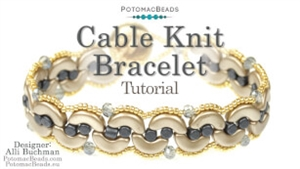 How to Bead Jewelry / Videos Sorted by Beads / Par Puca® Bead Videos / Cable Knit Bracelet Tutorial