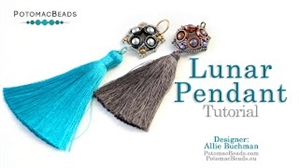 How to Bead / Videos Sorted by Beads / Potomax Metal Bead Videos / Lunar Pendant Tutorial