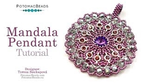 How to Bead / Videos Sorted by Beads / Potomac Crystal Videos / Mandala Pendant Tutorial