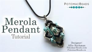 How to Bead Jewelry / Videos Sorted by Beads / EVA® Bead Videos / Merola Pendant Beadweaving Tutorial