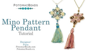 How to Bead Jewelry / Videos Sorted by Beads / Par Puca® Bead Videos / Mino Pattern Pendant Tutorial