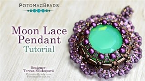 How to Bead / Videos Sorted by Beads / RounDuo® & RounDuo® Mini Bead Videos / Moon Lace Pendant Tutorial