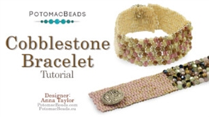 How to Bead Jewelry / Videos Sorted by Beads / Gemstone Videos / Cobblestone Bracelet Tutorial