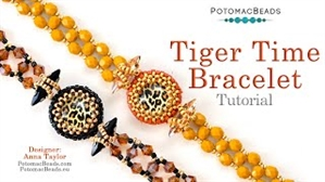 How to Bead / Videos Sorted by Beads / Cabochon Videos / Tiger Time Bracelet Tutorial