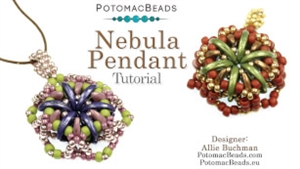 How to Bead / Videos Sorted by Beads / CzechMates Bead Videos / Nebula Pendant Tutorial