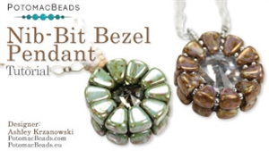 How to Bead Jewelry / Videos Sorted by Beads / Potomac Crystal Videos / Nib- Bit Bezel Pendant Tutorial