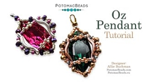 How to Bead Jewelry / Videos Sorted by Beads / Potomac Crystal Videos / Oz Pendant Beadweaving Tutorial