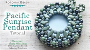 How to Bead / Videos Sorted by Beads / Cabochon Videos / Pacific Sunrise Pendant Tutorial