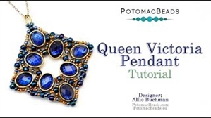 How to Bead Jewelry / Videos Sorted by Beads / Potomax Metal Bead Videos / Queen Victoria Pendant