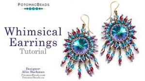 How to Bead Jewelry / Videos Sorted by Beads / Potomac Crystal Videos / Whimsical Earrings Tutorial