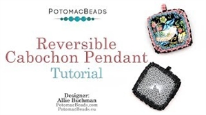How to Bead / Videos Sorted by Beads / Cabochon Videos / Reversible Cabochon Pendant Tutorial