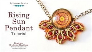 How to Bead Jewelry / Videos Sorted by Beads / Cabochon Videos / Rising Sun Pendant Tutorial