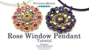 How to Bead / Videos Sorted by Beads / Ginko Bead Videos / Rose Window Pendant Tutorial