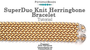 How to Bead / Free Video Tutorials / Bracelet Projects / SuperDuo Knit Herringbone Bracelet Tutorial